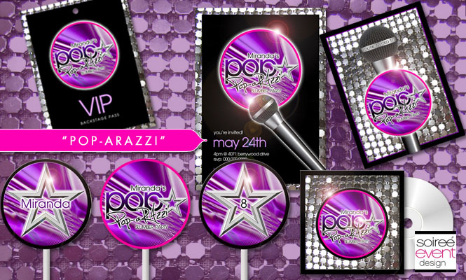 Pop-arazzi pop star party printables