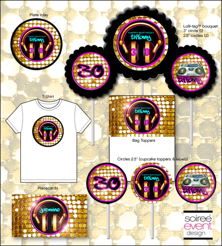 """Rockin' 80's Glam"" Printables Package"