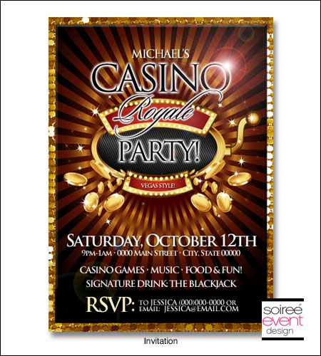 Casino party and invitations casino card games list