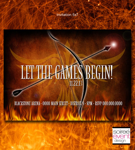 """Fire Games"" Invitation"