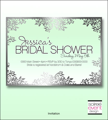 """Garden Bride"" Bridal Shower Invitation"