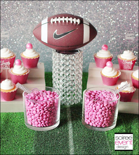 """Girly Football"" Printable Scoreboard"