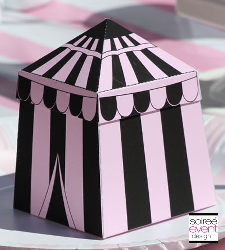 """Girly Circus!""© Personalized Big Top Tent Favor Box"