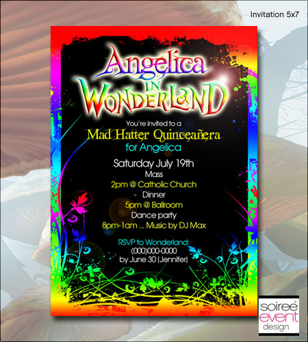 """Gothic Wonderland"" Invitation"