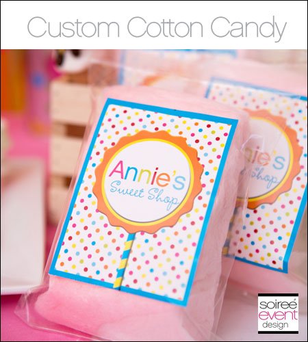 Custom Cotton Candy Bags with Personalized Labels