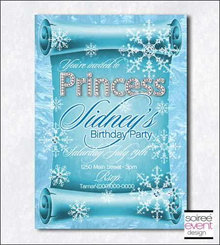 """Ice Princess"" Invitation"