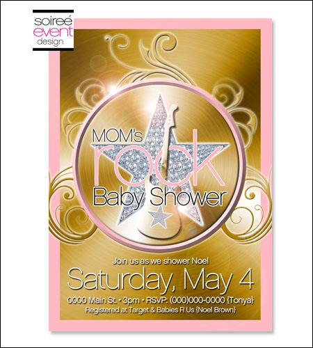 """Mom's ROCK!""� Invitation"