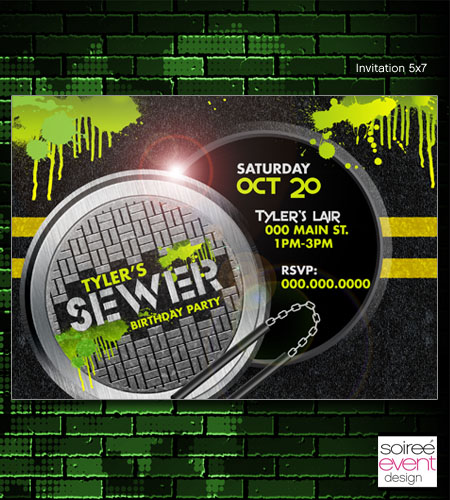 """Sewer"" Invitations"