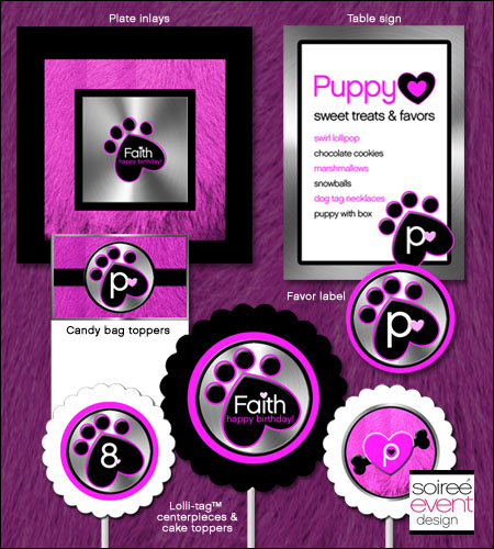 """Puppy Luv!""� Printables Package"