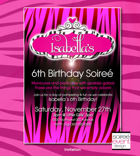 """Safari-licious!""� Zebra Glam Invitation"