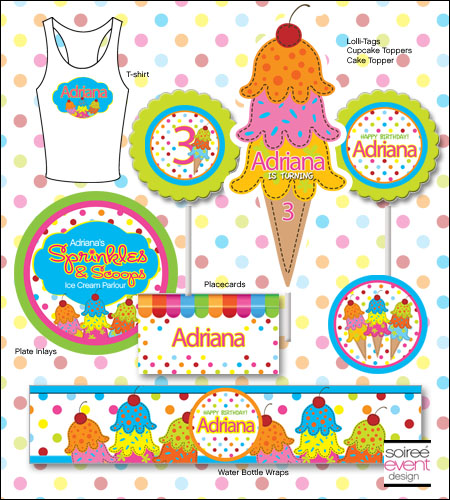 """Sprinkles & Scoops"" Ice Cream Printables Package"