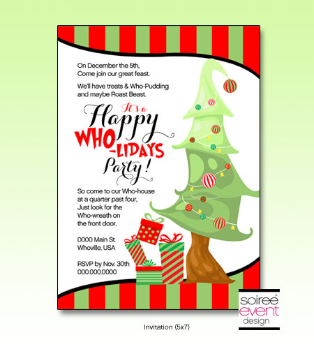 """Happy Who-lidays"" Invitation"