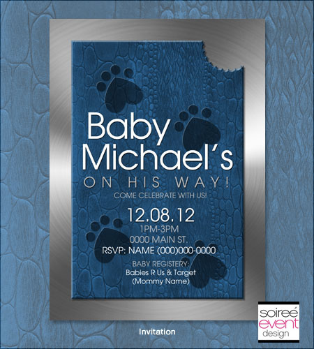 """Wild Side Baby!""� Baby Shower Invitation"